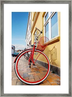 Danish Bike Framed Print by Robert Lacy