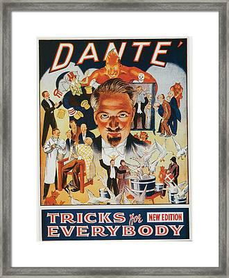 Dante Tricks For Everybody Framed Print by Unknown