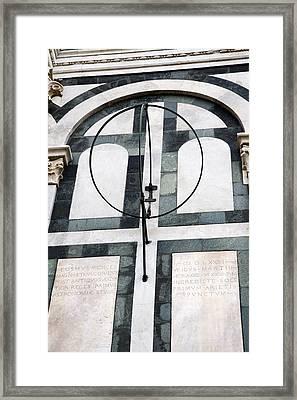 Danti's Equinoctial Armillary Framed Print