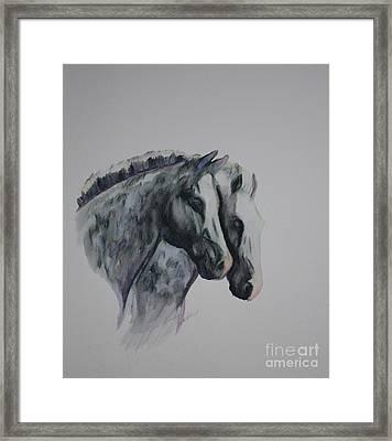 Dapple Duo Framed Print by Susan Herber