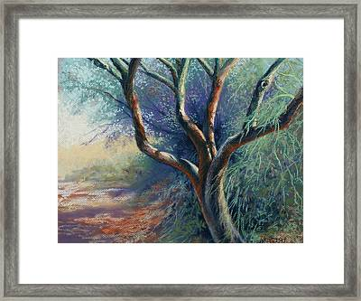 Dappled Rhythm Framed Print by Peggy Wrobleski