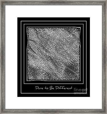 Dare To Be Different - Black And White Abstract Framed Print by Carol Groenen