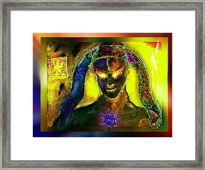 Framed Print featuring the digital art Dark Angel by Hartmut Jager