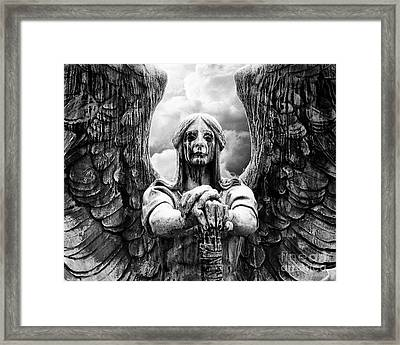 Dark Angel Warrior Framed Print