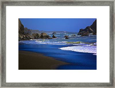 Dark Beach Framed Print