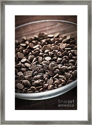Dark Chocolate Chips Framed Print by Elena Elisseeva