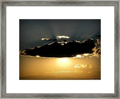 Dark Cloud And Mount Taylor Framed Print by Aaron Burrows