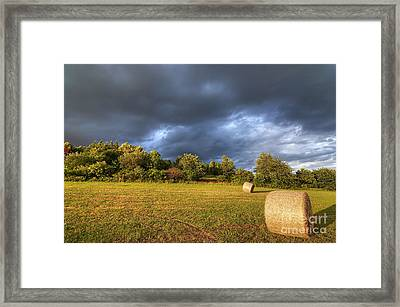Dark Clouds Before Storm Framed Print by Michal Boubin