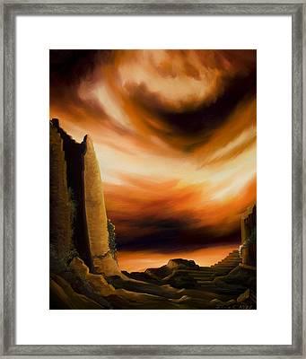 Dark Columns Framed Print by James Christopher Hill
