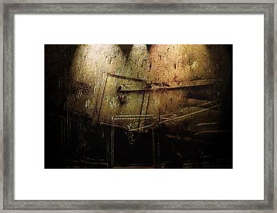 Dark Door Framed Print by Janet Kearns