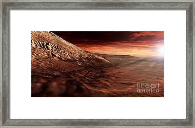 Dark Dunes March Along The Floor Framed Print by Steven Hobbs