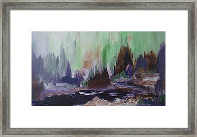 Dark Hollow Creek Framed Print by Celeste Friesen