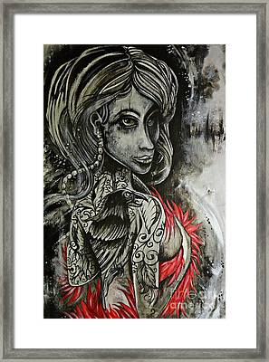 Dark Inked Icon Framed Print