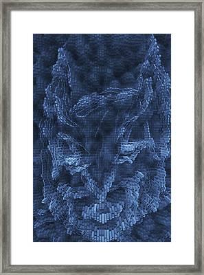 Dark Knight Rises Abstract Framed Print by Bill Owen