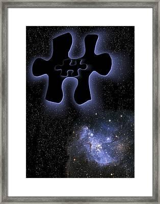 Dark Matter, Conceptual Artwork Framed Print by Victor De Schwanberg