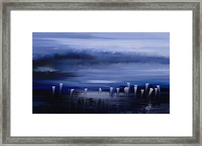Framed Print featuring the painting Dark Mist by Eleonora Perlic