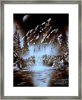 Dark Mountain Framed Print