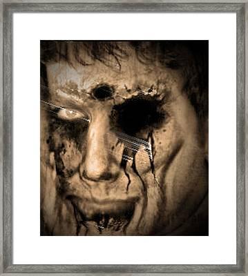 Dark Portrait Framed Print by Beto Machado