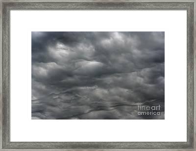 Dark Rainy Clouds Framed Print