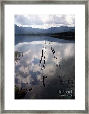 Framed Print featuring the photograph Dark Reflections by Cheryl McClure