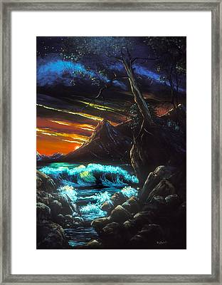 Dark Shores Framed Print