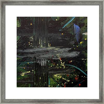 Dark Space Framed Print by Ethel Vrana