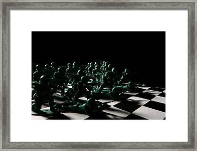 Dark Squares Framed Print by Lon Casler Bixby