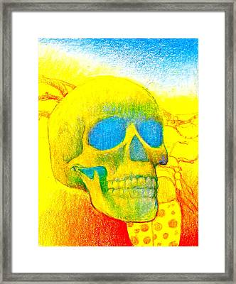 Dark Times Or Yell Low For Red White And Boo Framed Print by Cliff Spohn