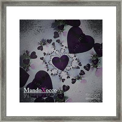 Dark Violet Framed Print