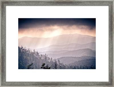 Dark Vista Over The Smokys Framed Print by Pixel Perfect by Michael Moore