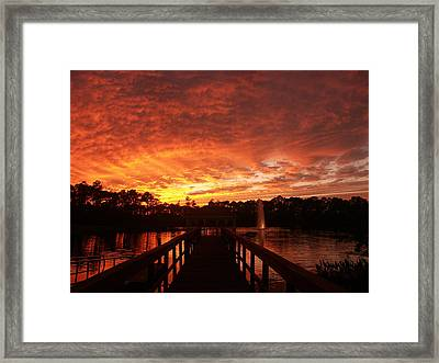 Dark Walkway Framed Print