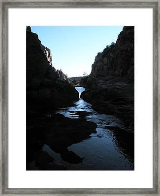Dark Water Framed Print by Jessica Jandayan