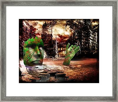 Dark Worlds 2 Framed Print by Wendy White