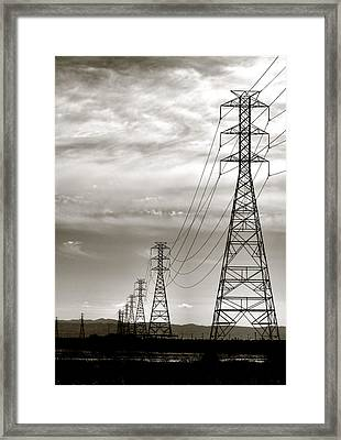 Darkening Sky Framed Print by Bob Wall