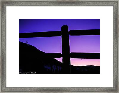 Framed Print featuring the photograph Darkening Sky by Shannon Harrington