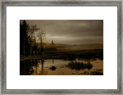 Darkness Approaches Framed Print