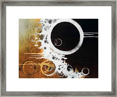 Framed Print featuring the painting Darkside by Mike Irwin