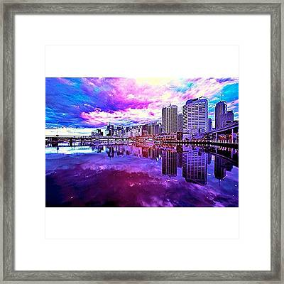 Darling Harbour Is A Harbour Adjacent Framed Print