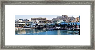 Darling Harbour Panorama Framed Print by Kaye Menner