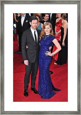 Darren Legallo, Amy Adams At Arrivals Framed Print