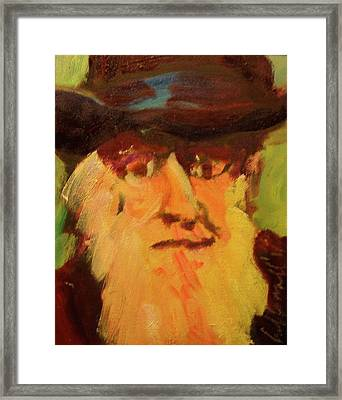 Framed Print featuring the painting Darwin by Les Leffingwell