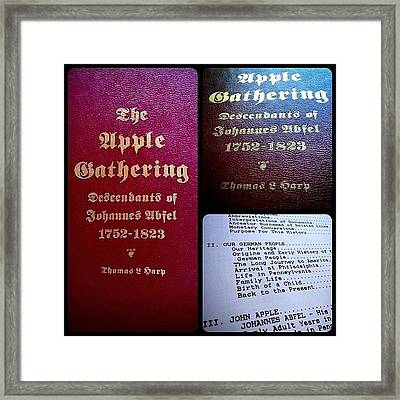 Das Book Of Abfels Framed Print