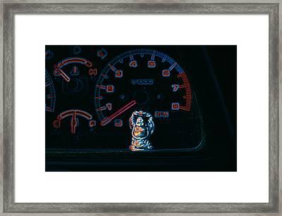 Dashboard Buddha Framed Print