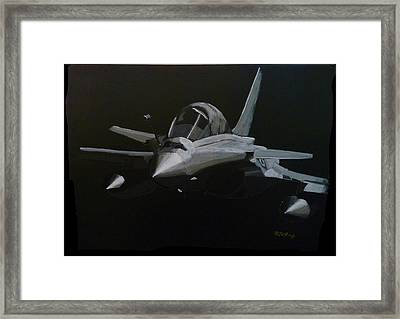 Framed Print featuring the painting Dassault Rafale by Richard Le Page