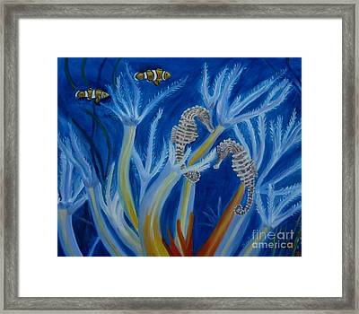 Framed Print featuring the painting Date Night On The Reef by Julie Brugh Riffey