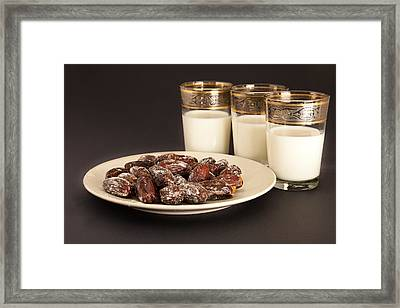 Dates And Milk Framed Print