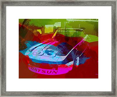 Datsun Framed Print by Naxart Studio