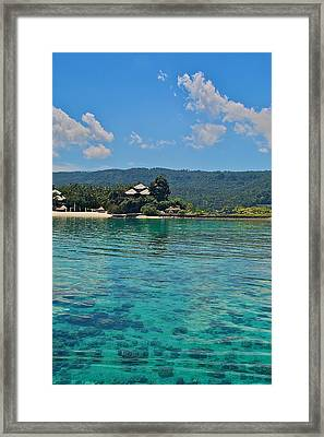 Davao Above And Below Framed Print by Arj Munoz