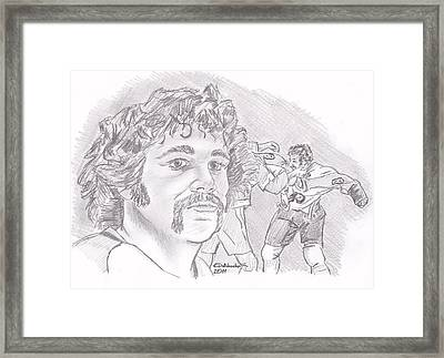 Dave Schultz- The Hammer Framed Print by Chris  DelVecchio