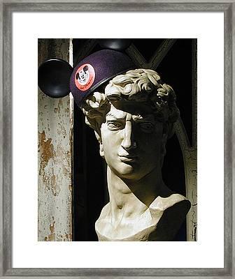 David And Mickey Framed Print by Lois Johnson